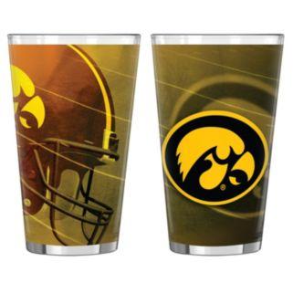 Iowa Hawkeyes 2-pc. Pint Glass Set