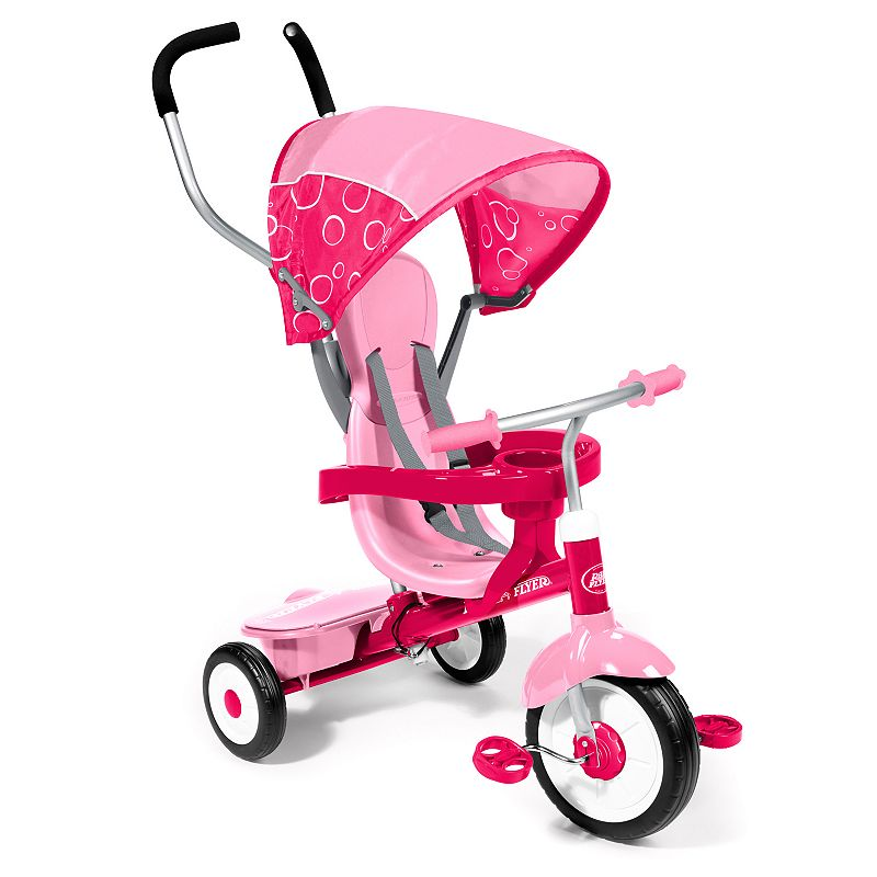 Radio Flyer 4-in-1 Ultimate Grow-With-Me Tricycle, Pink