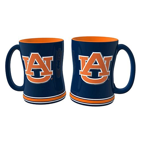 Auburn Tigers 2-pc. Relief Coffee Mug Set