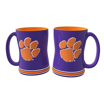 Clemson Tigers 2-pc. Relief Coffee Mug Set