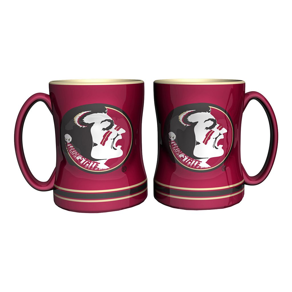 Florida State Seminoles 2-pc. Relief Coffee Mug Set