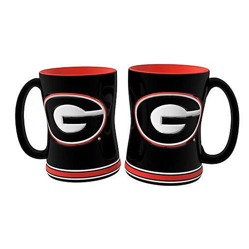 Georgia Bulldogs 2-pc. Relief Coffee Mug Set