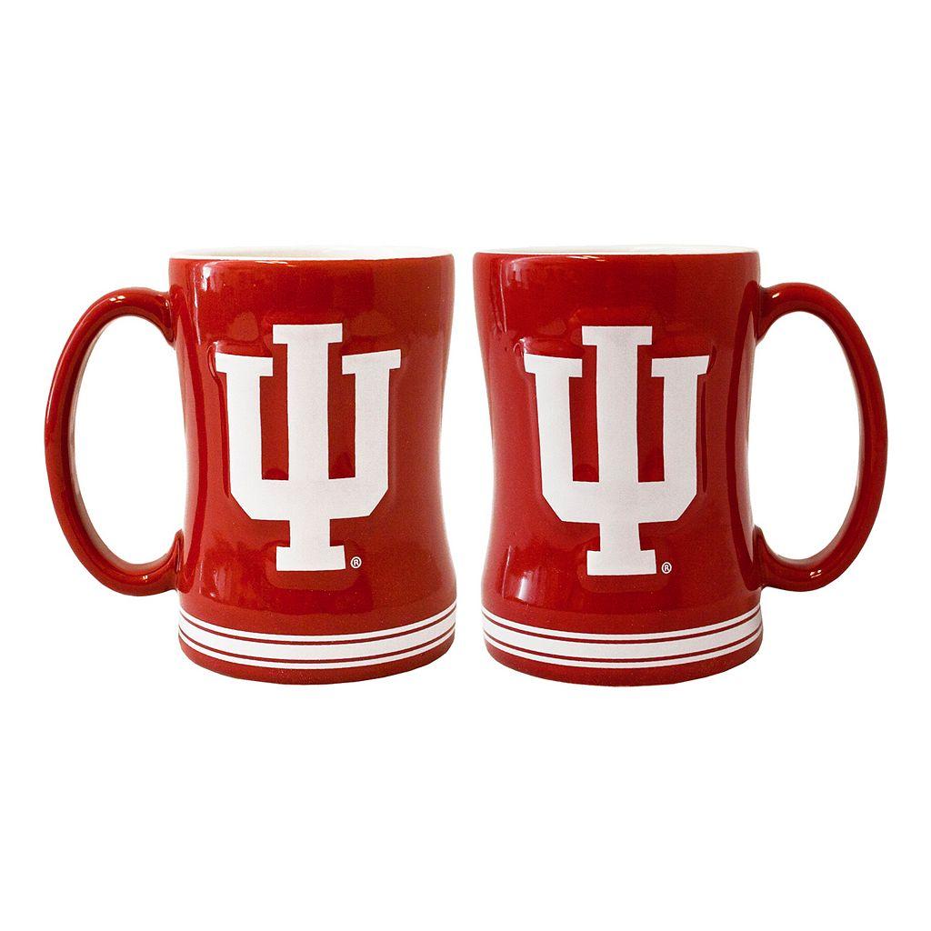 Indiana Hoosiers 2-pc. Relief Coffee Mug Set