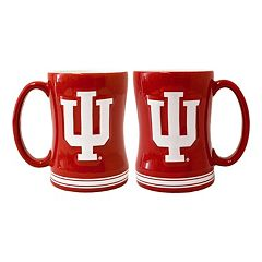 Indiana Hoosiers 2-pc. Relief Coffee Mug Set