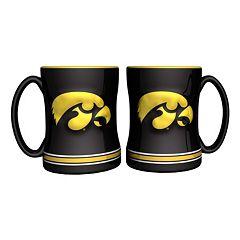 Iowa Hawkeyes 2 pc Relief Coffee Mug Set