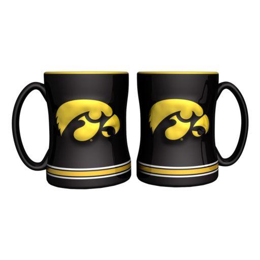 Iowa Hawkeyes 2-pc. Relief Coffee Mug Set