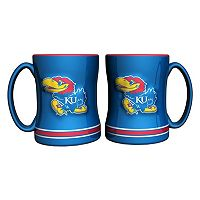 Kansas Jayhawks 2-pc. Relief Coffee Mug Set