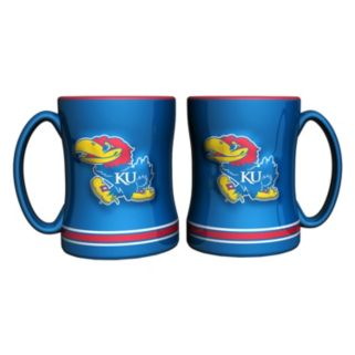 Kansas Jayhawks 2-pc. Relief Coffee Mug Set