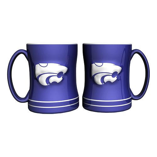 Kansas State Wildcats 2-pc. Relief Coffee Mug Set