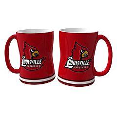 Louisville Cardinals 2-pc. Relief Coffee Mug Set