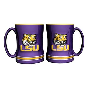 LSU Tigers 2-pc. Relief Coffee Mug Set