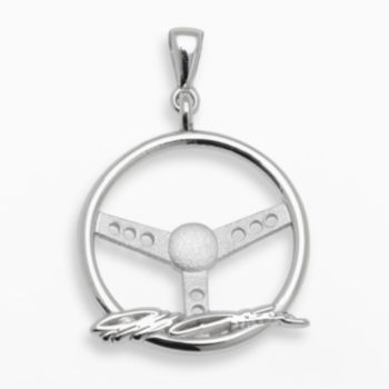 Insignia Collection NASCAR Jeff Gordon Sterling Silver Steering Wheel Pendant