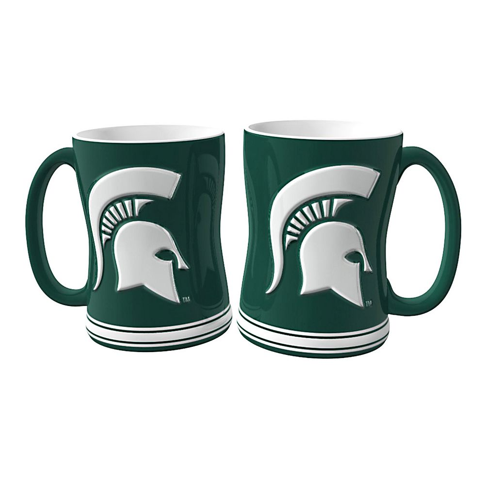 Michigan State Spartans 2-pc. Relief Coffee Mug Set