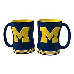 Michigan Wolverines 2-pc. Relief Coffee Mug Set