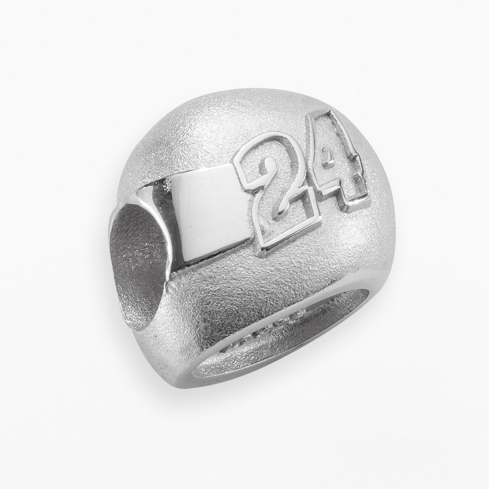 "Insignia Collection NASCAR Jeff Gordon Sterling Silver ""24"" Helmet Bead"