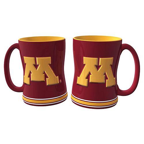 Minnesota Golden Gophers 2-pc. Relief Coffee Mug Set