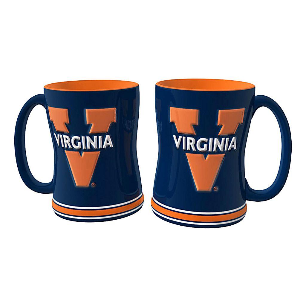 Virginia Cavaliers 2-pc. Relief Coffee Mug Set