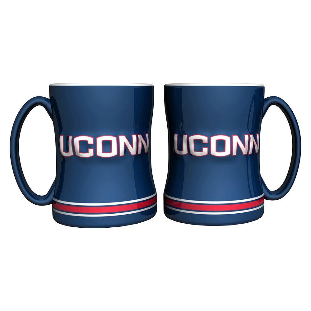 UConn Huskies 2-pc. Relief Coffee Mug Set