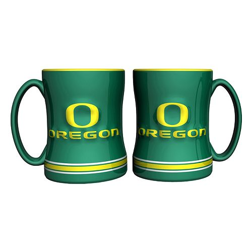 Oregon Ducks 2-pc. Relief Coffee Mug Set