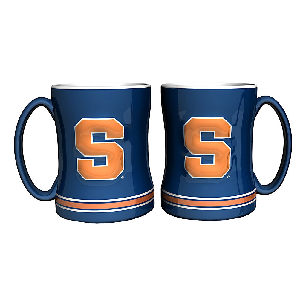 Syracuse Orange 2-pc. Relief Coffee Mug Set