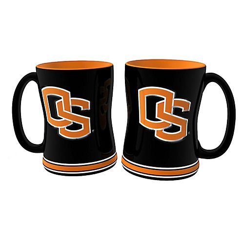 Oregon State Beavers 2-pc. Relief Coffee Mug Set