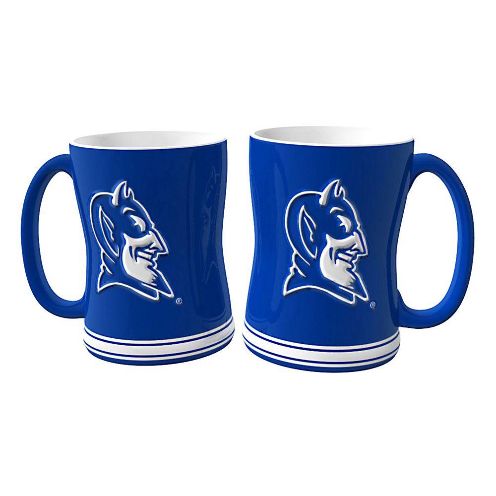 Duke Blue Devils 2-pc. Relief Coffee Mug Set