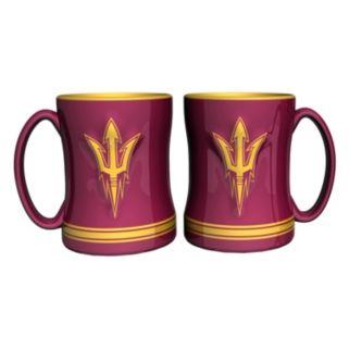 Arizona State Sun Devils 2-pc. Relief Coffee Mug Set