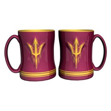 Arizona State Sun Devils 2-pc. Relief Coffee Mug Set