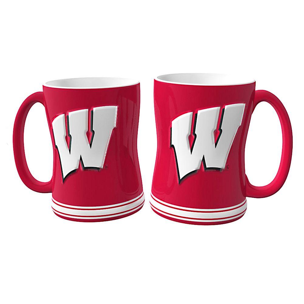 Wisconsin Badgers 2-pc. Relief Coffee Mug Set