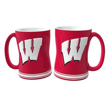Wisconsin Badgers 2-pc. Relief Coffee Mug Set