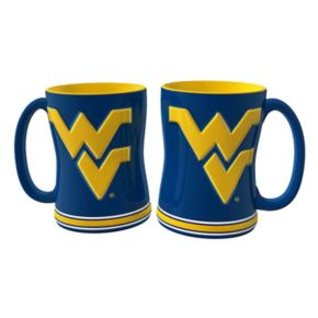 West Virginia Mountaineers 2-pc. Relief Coffee Mug Set