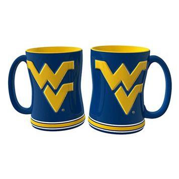 West Virginia Mountaineers 2-pc. Relief Coffee Mug Set