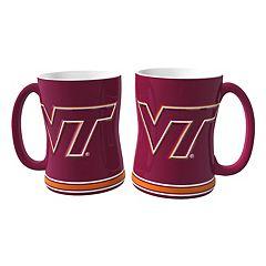 Virginia Tech Hokies 2 pc Relief Coffee Mug Set