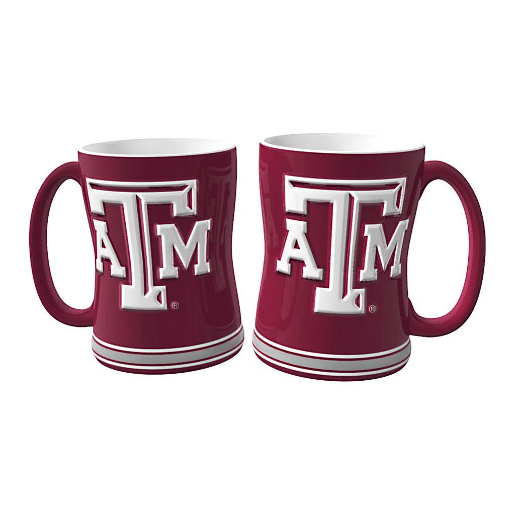 Texas A&M Aggies 2-pc. Relief Coffee Mug Set