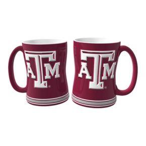 Texas AandM Aggies 2-pc. Relief Coffee Mug Set
