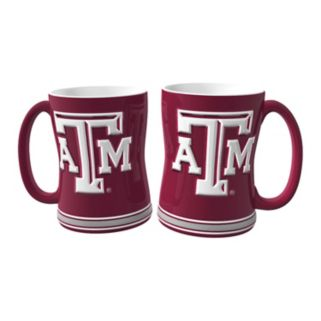 Texas AandM Aggies 2-pc. Relief Coffee Mug Set