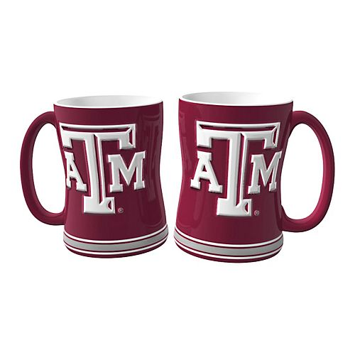 Texas A&M Aggies 2-pc. Relief Coffee Mug Set