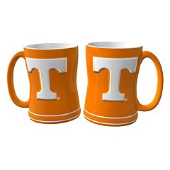 Tennessee Volunteers 2 pc Relief Coffee Mug Set