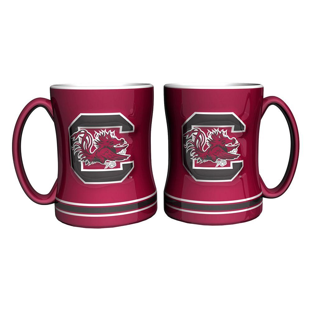 South Carolina Gamecocks 2-pc. Relief Coffee Mug Set