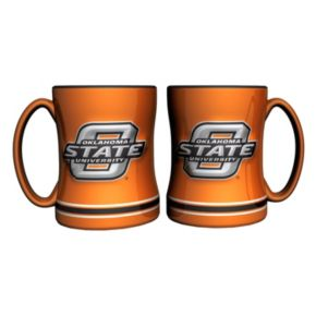 Oklahoma State Cowboys 2-pc. Relief Coffee Mug Set