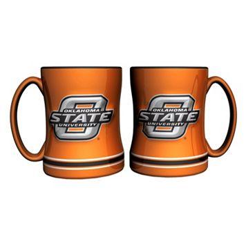 Oklahoma State Cowboys 2-pc. Relief Coffee Mug Set