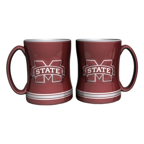 Mississippi State Bulldogs 2 Pc Relief Coffee Mug Set