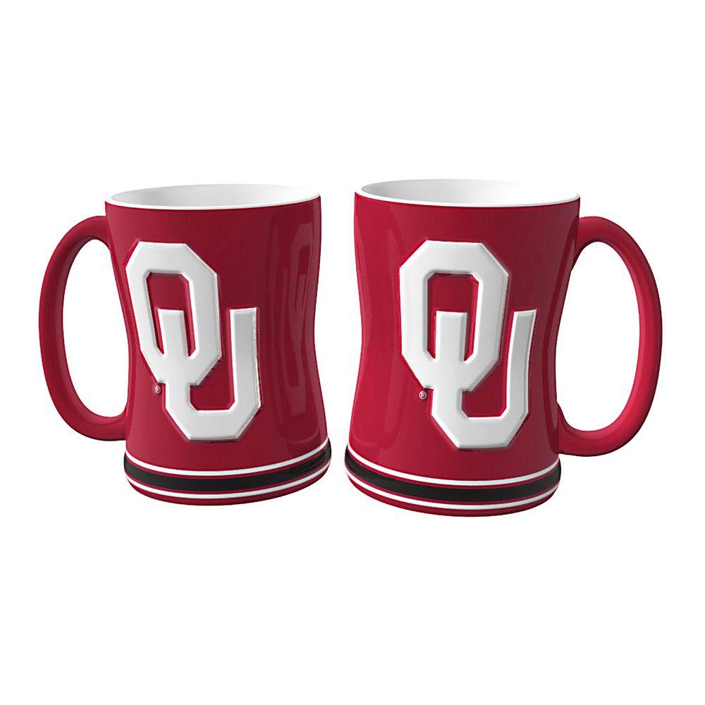 Oklahoma Sooners 2-pc. Relief Coffee Mug Set