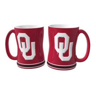 Oklahoma Sooners 2-pc. Relief Coffee Mug Set
