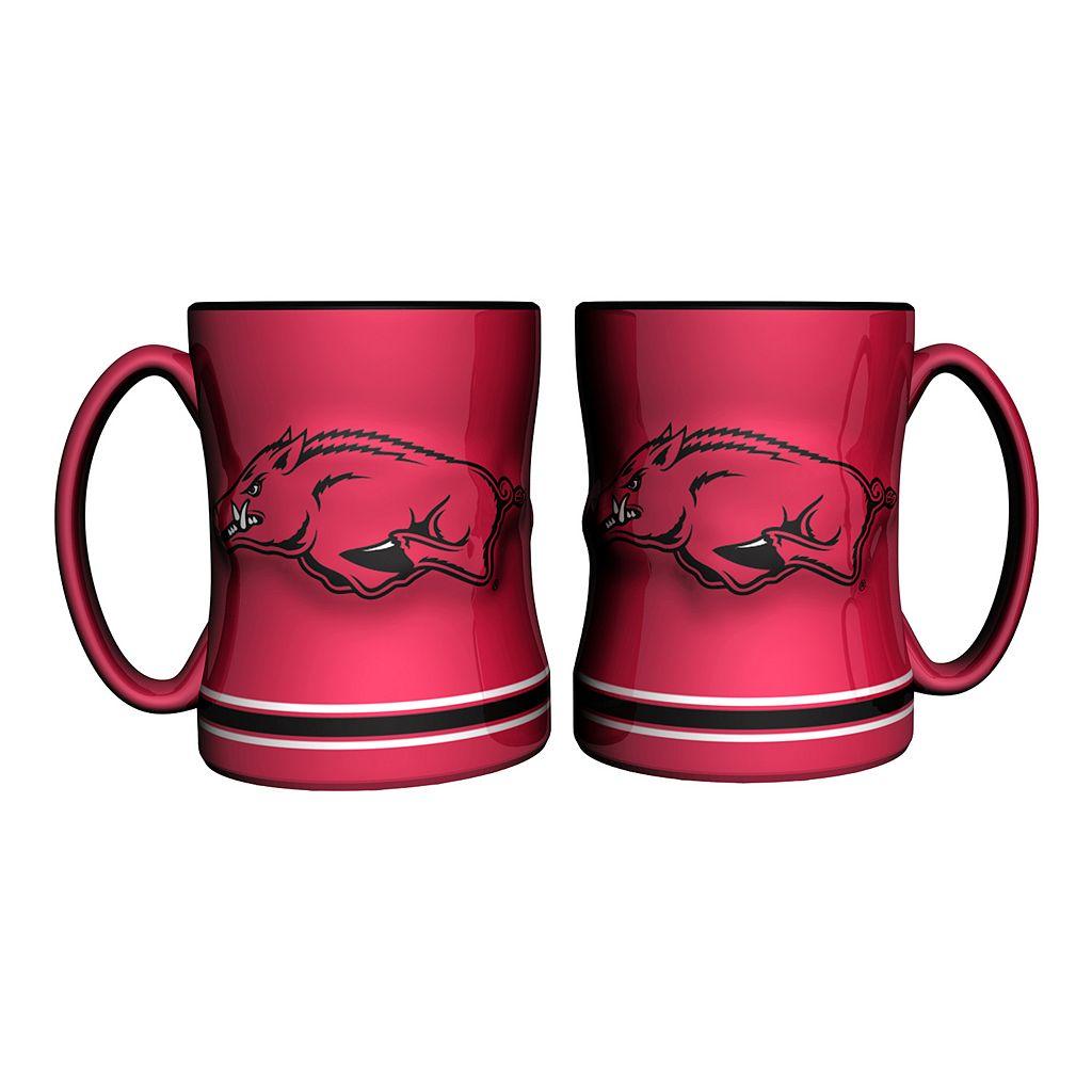 Arkansas Razorbacks 2-pc. Relief Coffee Mug Set