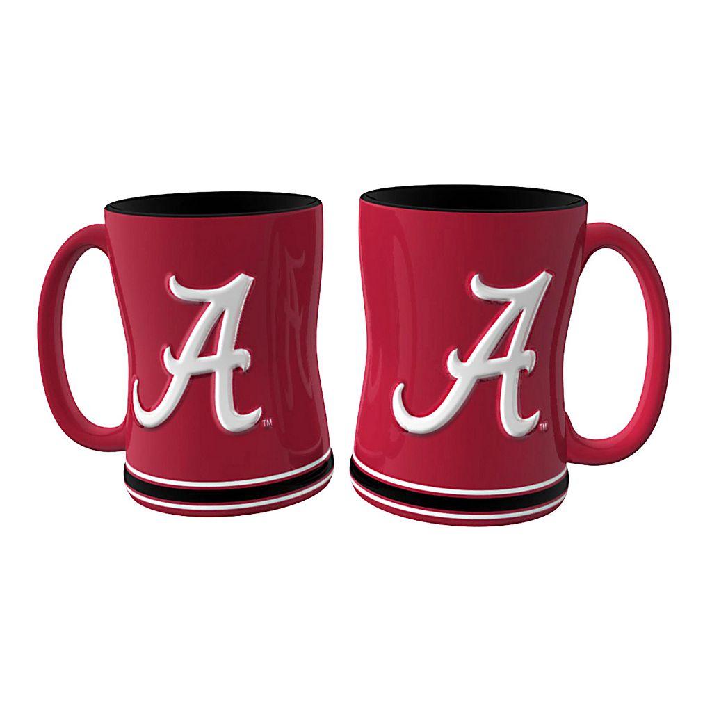 Alabama Crimson Tide 2-pc. Relief Coffee Mug Set