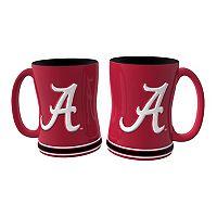 Alabama Crimson Tide 2 pc Relief Coffee Mug Set