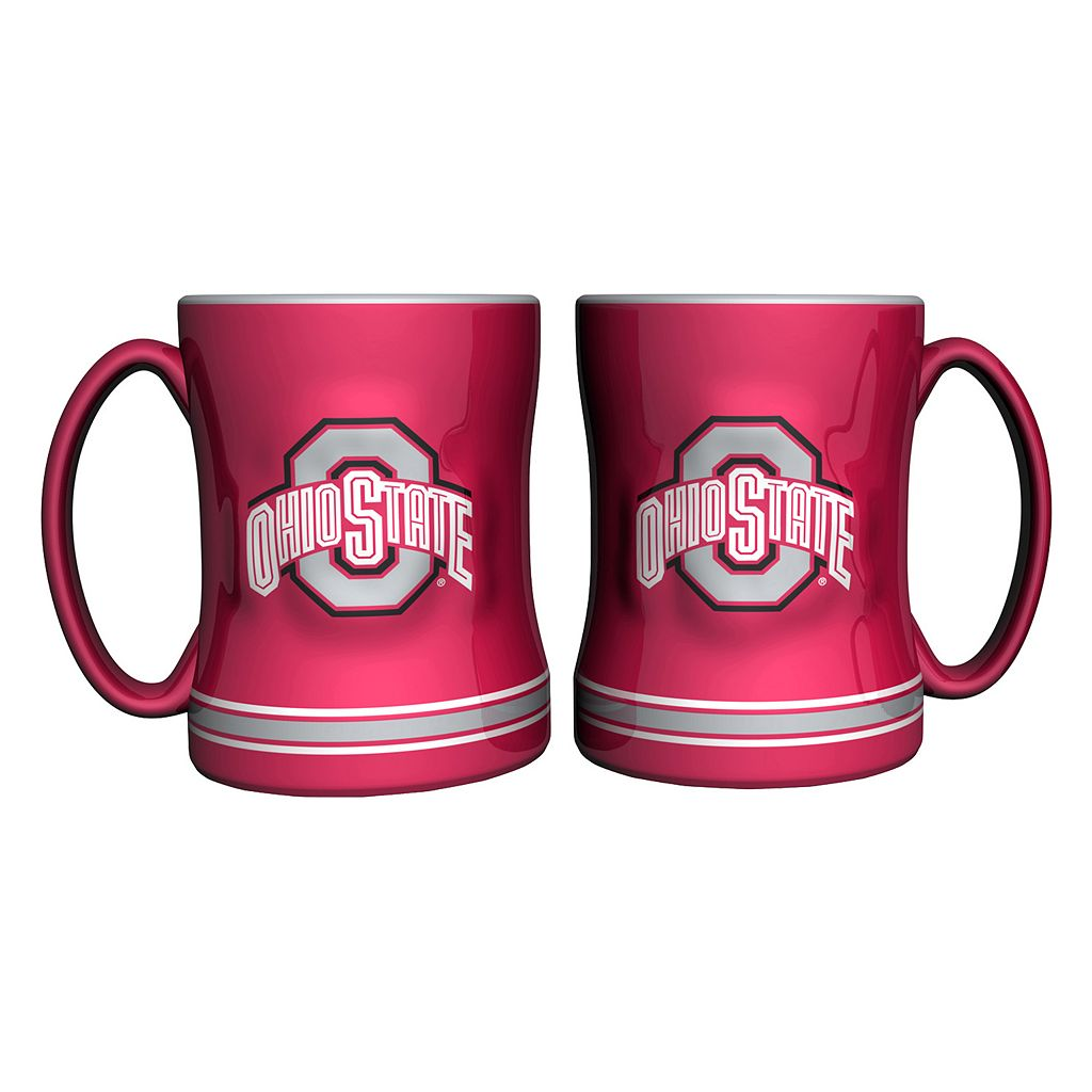 Ohio State Buckeyes 2-pc. Relief Coffee Mug Set
