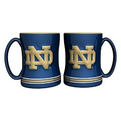Notre Dame Fighting Irish 2-pc. Relief Coffee Mug Set