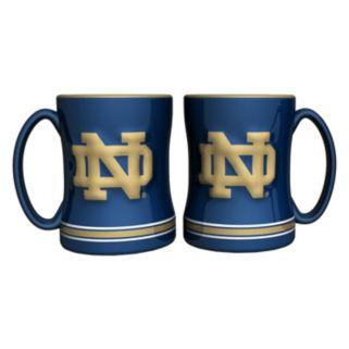 Notre Dame Fighting Irish 2-pc. Relief Coffee Mug Set